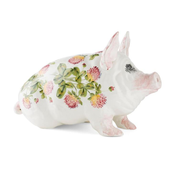 WEMYSS WARE LARGE AND RARE PIG FIGURE, LATE 19TH CENTURY 27.8cm high, 44cm long