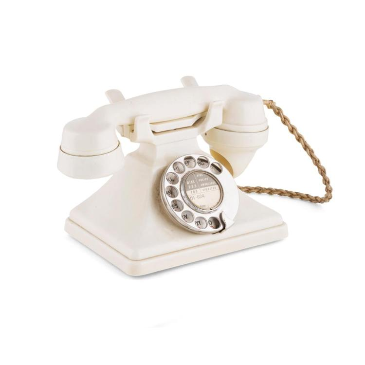 GPO IVORY PYRAMID TELEPHONE, MODEL 234, 1930S 23cm wide, 15cm high, 13.5cm deep