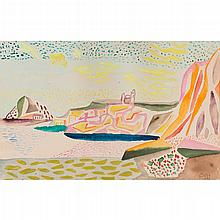 § WERNER GILLES (GERMAN 1894-1961) COASTAL LANDMARKS 30cm x 47cm (12in x 18.5in) and another two prints by the same hand (3)