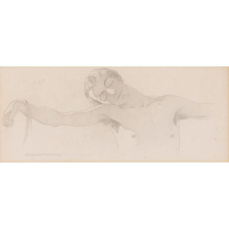 ERIC HAROLD MACBETH ROBERTSON (SCOTTISH 1887-1941) STUDY FOR 'HUMANITY CRUCIFIED' 21.5cm x 52cm (8.5in x 20.5in)