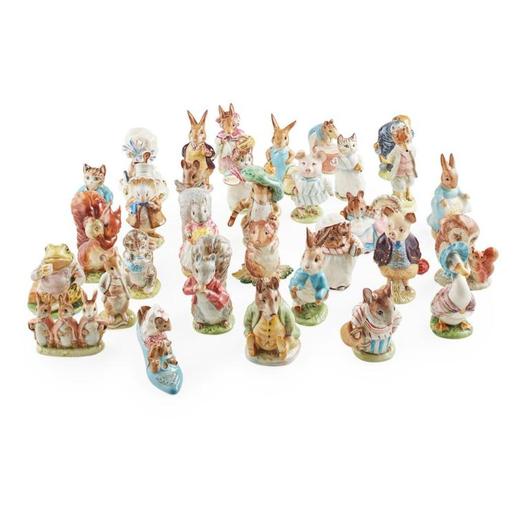BESWICK POTTERY GROUP OF BEATRIX POTTER FIGURES, 1948-1972 tallest 12cm high