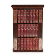 TALWIN MORRIS (1865-1911) GLASGOW STYLE ART NOUVEAU BOOKCASE WITH BOOKS, CIRCA 1900 50cm wide, 74cm high, 18cm deep