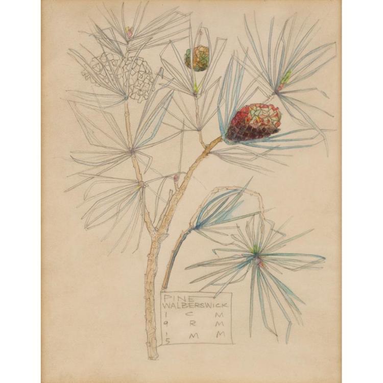 CHARLES RENNIE MACKINTOSH (1868-1928) PINE, WALBERSWICK 24.5cm x 19cm
