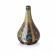 WILLIAM S. MYCOCK (1872-1950) FOR PILKINGTON'S ROYAL LANCASTRIAN LUSTRE VASE, DATED 1926 26cm high