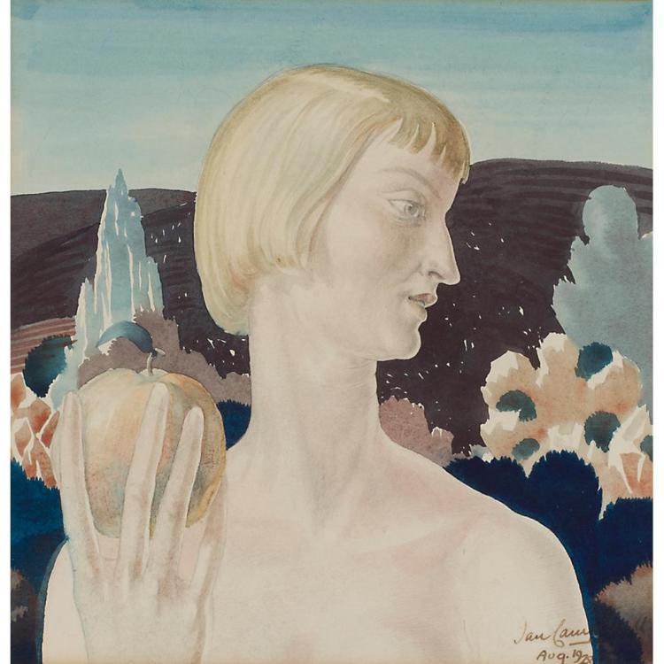 [§] IAN CAMPBELL (1902-1984) NANCY AS EVE 22.5cm x 22cm