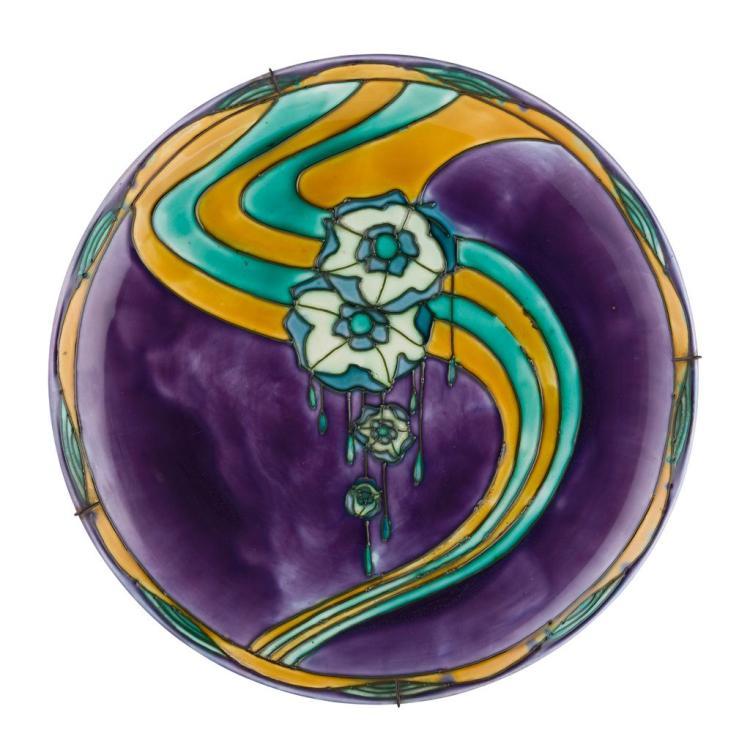 MINTON'S LTD. 'SECESSIONIST' CHARGER, CIRCA 1910 38cm diameter