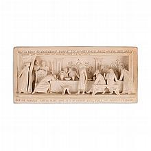 GEORGE TINWORTH (1843-1913) FOR DOULTON, LAMBETH TERRACOTTA PANEL, CIRCA 1870 14.5cm x 31.5cm
