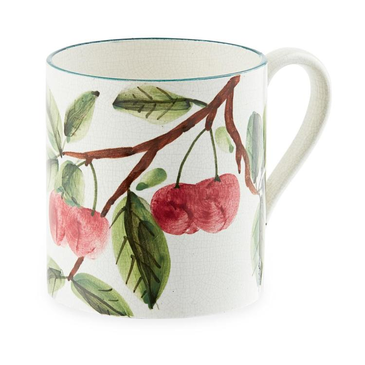 WEMYSS WARE SMALL ''CHERRIES'' MUG, CIRCA 1900 9.2cm high