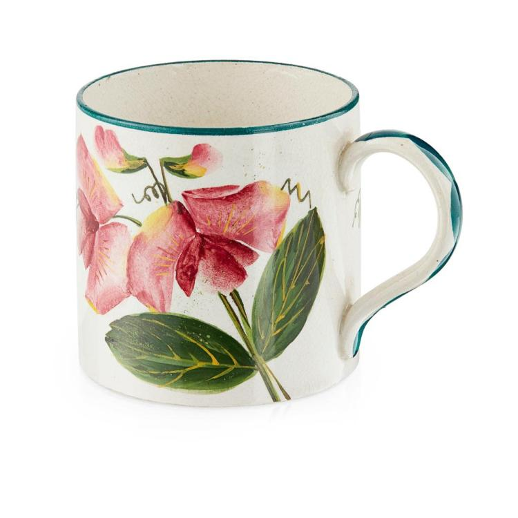 WEMYSS WARE SMALL ''SWEET PEAS'' MUG, CIRCA 1900 7.1cm high