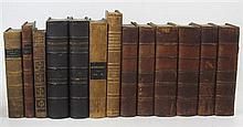 Leather bindings, 100 volumes, mostly calf,
