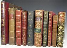 Leather bindings, quartos and folios, including Milne, J.H.