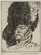 JOSEPH SIMPSON (1879-1939) PORTRAIT OF FRANK BRANGWYN 21cm x 35cm, 21.5cm x 30cm, 20cm x 15.5cm respectively (3), Joseph Simpson, Click for value