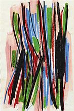 § WILLIAM GEAR R.A., R.R.S.A., R.B.S.A. (SCOTTISH 1915-1997) STUDY, 1966 39cm x 26cm (15.5in x 10.25in)