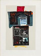 § GEORGE DONALD R.S.A., R.S.W. (SCOTTISH B.1943) MIRROR 70cm x 52cm (27.5in x 20.5in)