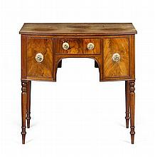 GEORGE III SMALL BOWFRONT MAHOGANY SIDEBOARD 18TH CENTURY 92cm wide, 81cm high, 55cm deep