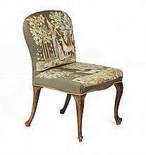 GEORGE III STYLE UPHOLSTERED SIDE CHAIR 19TH CENTURY 59cm wide, 92cm high, 49cm