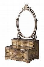 CHINESE EXPORT BLACK LACQUER DRESSING MIRROR 19TH CENTURY 40cm wide, 80cm high, 30cm deep