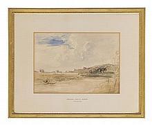 DAVID COX THE YOUNGER (BRITISH 1808-1885) ARUNDEL CASTLE, SUSSEX 22cm x 32cm (8.5in x 12.5in)