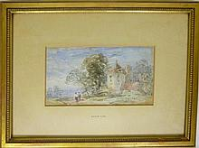 DAVID COX THE YOUNGER (BRITISH 1808-1885) ALONG THE TOWN ROAD 11.5cm x 14cm (4.5in x 5.5in) and another landscape scene by the same...