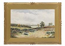 RICHARD WILLIAM HALFNIGHT (BRITISH 1855-1925) FRENSHAM PONDS, HINDHEAD 35cm x 53cm (13.75in x 20.75in)
