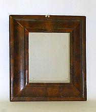 QUEEN ANNE WALNUT OYSTER VENEER MIRROR EARLY 18TH CENTURY 52cm high, 48cm wide