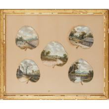 ATTRIBUTED TO ALFRED WILLIAM EUSTACE (1820-1907) FRAMED COLLECTION OF EUCALYPTUS LEAF PAINTINGS