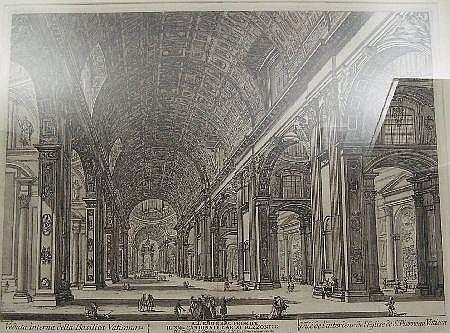 AFTER JEAN BARBAULT (1718-1762) VEDUTA DELLA BASILICA VATICANA