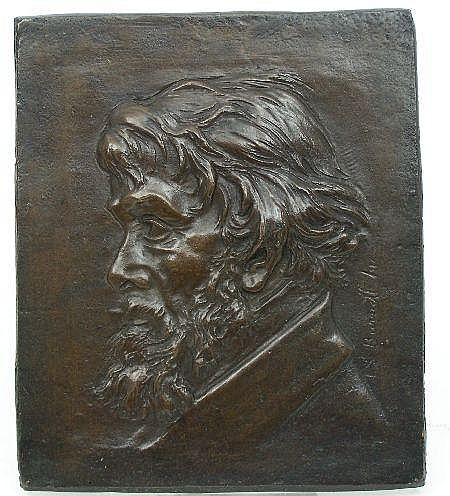 THOMAS STUART BURNETT ARSA (1853-1888) THOMAS CARLYLE 25cm x 21cm