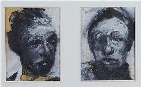 § CRAIG MULHOLLAND (SCOTTISH B. 1969) HEAD STUDY 18cm x 13cm (7in x 5in)