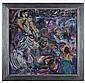 § FIONNA CARLISLE (SCOTTISH B.1954) GREEK DANCER 74cm x 77cm (29in x 30.25in), Fionna Carlisle, Click for value