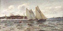 COLIN HUNTER A.R.A., R.I., R.S.W., R.E. (1841-1904) OBAN REGATTA 75cm x 152cm (29.5in x 60in)