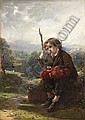 THOMAS FAED R.A., R.S.A (1826-1900) A REST BY THE WAY 36cm x 25.5cm (14in x 10in), Thomas Faed, Click for value