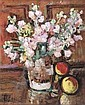 LESLIE HUNTER (1877-1931) A STILL LIFE OF FRUIT AND FLOWERS 57cm x 46cm (22.5in x 18in), Leslie Hunter, Click for value