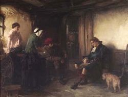 GEORGE OGILVY REID R.S.A. (1851-1928) THE FUGITIVE 90cm x 117cm (35.5in x 46in)