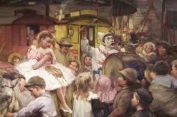 ROBERT GEMMELL HUTCHISON R.B.A, R.O.I., R.S.A., R.S.W. (1860-1936) THE VILLAGE CARNIVAL 113cm x 156cm (40.5in x 61.5in)