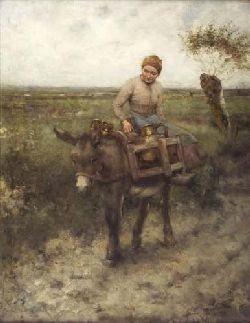 ROBERT MCGREGOR R.S.A. (1847-1922) THE WATER-CARRIER 56cm x 42cm (22in x 16.5in)