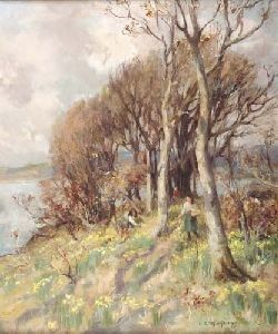 WILLIAM STEWART MCGEORGE R.S.A. (1861-1931) HOST OF GOLDEN DAFFODILS 60cm x 50cm (23.5in x 19.75in)