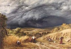 JOHN LINNELL (1792-1882) STORM IN AUTUMN 91cm x 134cm (35.75in x 52.75in)