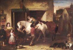 JOHN BURR R.B.A., R.O.I., A.R.W.S. (1831-1893) THE VINTNER 64cm x 93cm (25.25in x 36.5in)