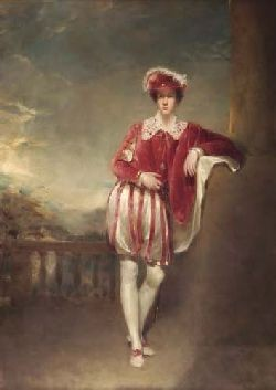 ANDREW GEDDES A.R.A. (1783-1844) THE ACTOR WILLIAM BETTY IN THEATRICAL COSTUME 34cm x 24cm (13.5in x 9.5in)