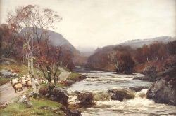 DAVID FARQUHARSON A.R.A, A.R.S.A., R.S.W., R.O.I. (1840-1907) AUTUMN ON THE TUMMEL 50cm x 75cm (19.75in x 29.5in)