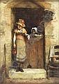 JOHN BURR R.B.A., R.O.I., A.R.W.S (1831-1893) THE SPAE WIFE 35.5cm x 25.5cm (14in x 10in), John (1831) Burr, Click for value
