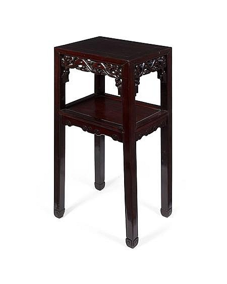 CHINESE HARDWOOD STAND LATE QING DYNASTY 41cm wide, 80cm high, 30cm deep