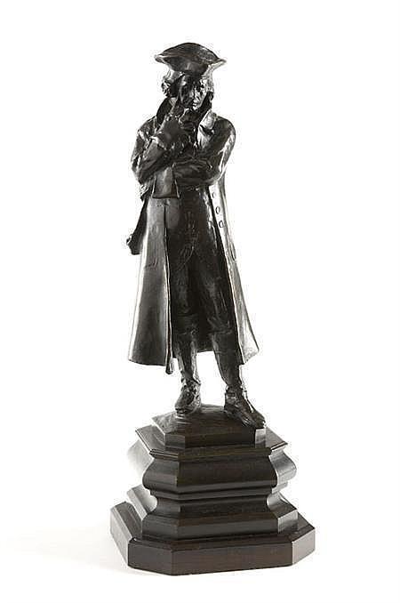 A bronze maquette of John Howard By Sir Alfred Gilbert (1854-1934) 53cm high