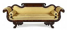 FINE AMERICAN CLASSICAL PERIOD MAHOGANY SETTEE PROBABLY NEW YORK, CIRCA 1825 224cm wide, 90cm high, 53cm deep
