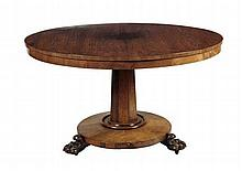 REGENCY ROSEWOOD BREAKFAST TABLE 122cm wide, 71cm high