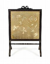 MAHOGANY FIRE SCREEN 19TH CENTURY 61cm wide, 95cm high