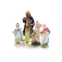 A GROUP OF FOUR ROYAL DOULTON FIGURES MID 20TH CENTURY