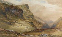 WYCLIFFE EGGINTON (1875-1951) GLENCOE 75cm x 125cm