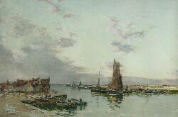 JOHN TERRIS R.W.S., R.I. (1865-1914) GOING OUT TO SEA 50cm x 74cm